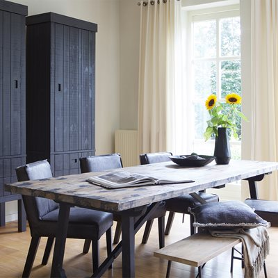 CRAFT DINING TABLE with Black Legs