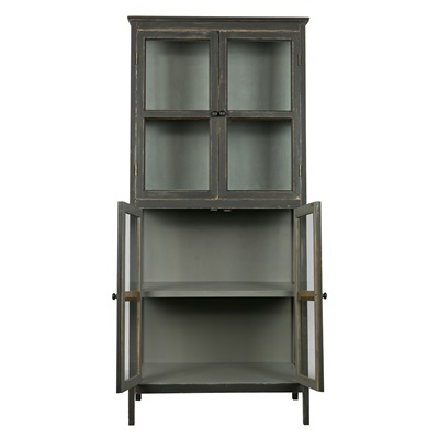 Herritage Slanted Display Cabinet in Black by Be Pure Home