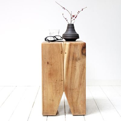 RUSTIC SMALL SIDE TABLE in Suar Wood