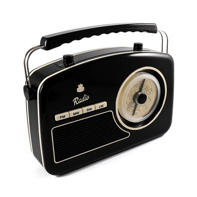 GPO RYDELL VINTAGE FOUR BAND RADIO in Black