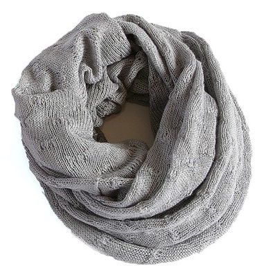 SAMANTHA HOLMES Butterfly Knit Snood in Dove Grey