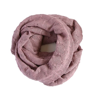 SAMANTHA HOLMES Knit Snood in Dusty Pink