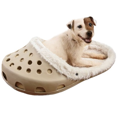 SASQUATCH! CROC Style Pet Bed - Beige