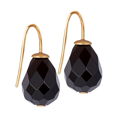 BLACK AGATE EARRINGS by Sence Copenhagen