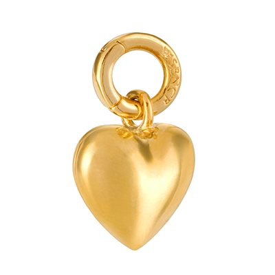 GOLD HEART CHARM by Sence Copenhagen