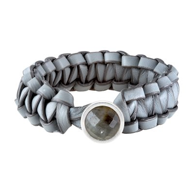 BERNADETTE BRACELET in Grey Leather by Sence Copenhagen