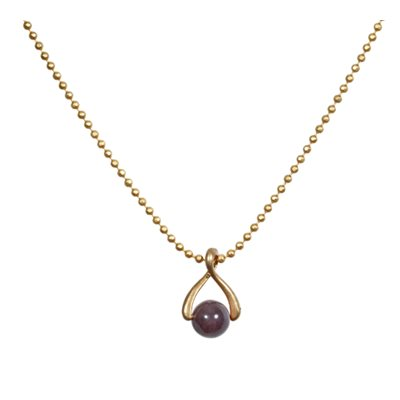 PURPLE TWIST NECKLACE on Gold Chain by Sence Copenhagen