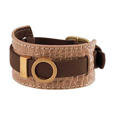 BRACELET CUFF in Brown Leather by Sence Copenhagen