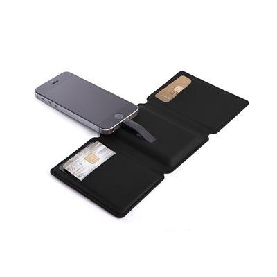 SEYVR Phone Charging Men's Wallet for iPhone 5/6/6 Plus in Black