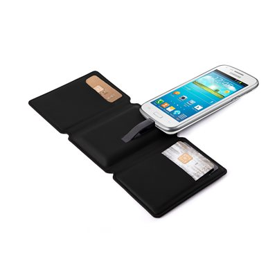 SEYVR Phone Charging Men's Wallet for MicroUSB Android in Black