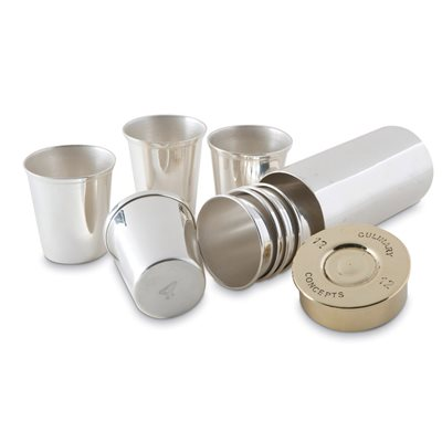 SHOT CUPS in Silver Shot Cartridge Design