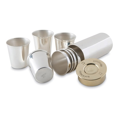 Culinary Concepts Shot Cups in Silver Shot Cartridge Design