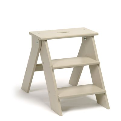 WOODEN STEP STOOL in Clay by Garden Trading