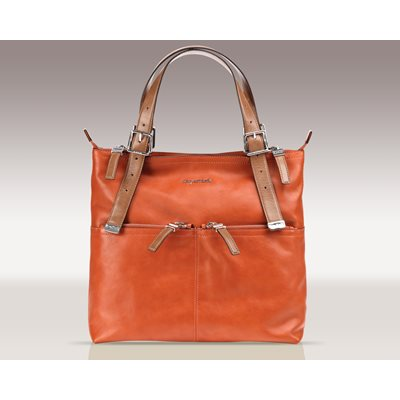 SUGARJACK Lily Changing Bag in Orange Leather