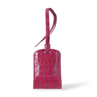 SULAN Premium Bag Tag Smartphone Charger in Magenta Crocos