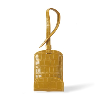 SULAN Premium Bag Tag Smartphone Charger in Mustard Crocos