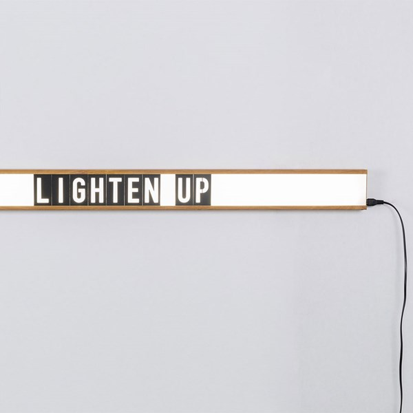 Saber Wall Mounted Light Box with Oak Frame