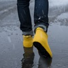 Nordic Grip yellow ankle wellington boots