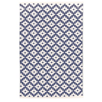INDOOR OUTDOOR SAMODE RUG in Denim & Ivory
