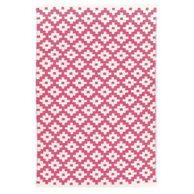 INDOOR OUTDOOR SAMODE RUG in Fuchsia Pink