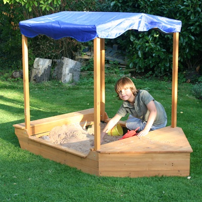 Wooden Garden Sailer Sand Pit By Garden Games Summer