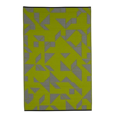 SANTA CRUZ OUTDOOR RUG in Lime & Grey