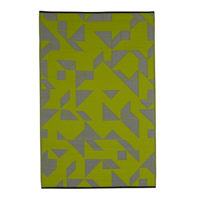 FAB HAB SANTA CRUZ OUTDOOR RUG in Lime & Grey