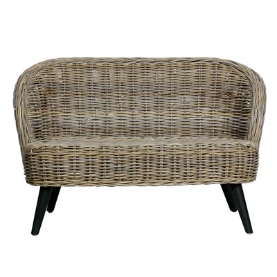 Sara Small Rattan Sofa by Woood