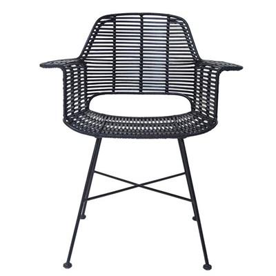 Scandi Style Black Rattan Chair ...