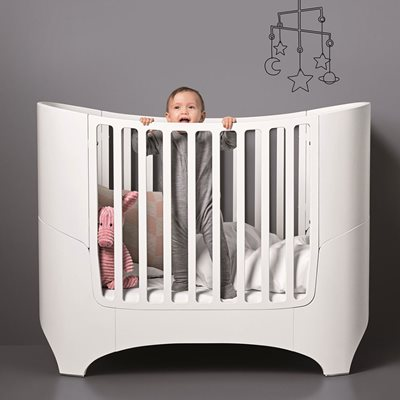 Leander Cot in White with Optional Extension Kit