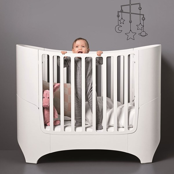 Contemporary White Leander Nursery Cot Bed