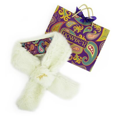CHAMONIX Faux Fur Scarf in Snow