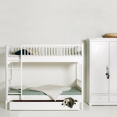 CHILDREN'S SEASIDE BUNK BED WITH VERTICAL LADDER in White