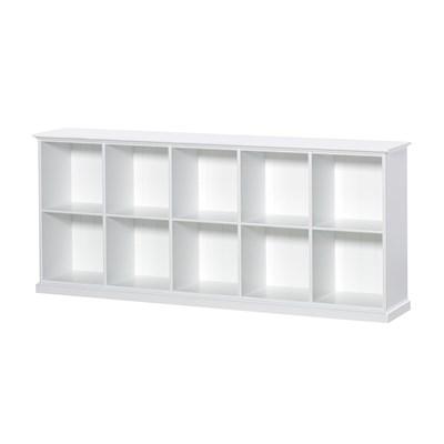 ... Seaside-Large-White-Storage-Shelves.jpg ...  sc 1 st  Cuckooland & Oliver Furniture Seaside Horizontal Low Shelving Unit In White ...