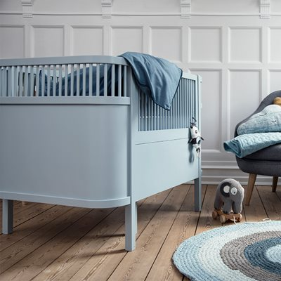 SEBRA EXPANDING COTBED to JUNIOR BED in Cloud Blue