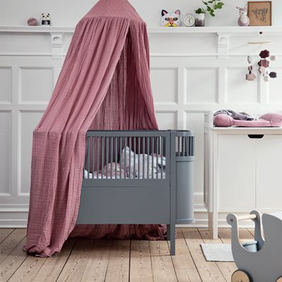 Sebra Expanding Cotbed to Junior Bed in Dark Grey