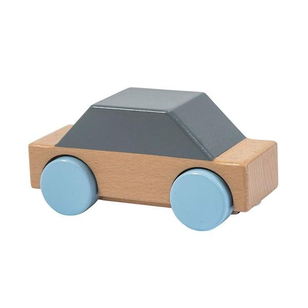 Sebra Kids Wooden Toy Car in Grey