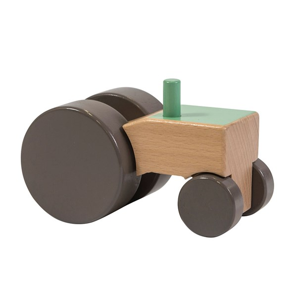 Sebra Kids Wooden Tractor Toy