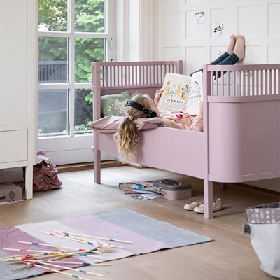 SEBRA EXPANDING COTBED to JUNIOR BED in Vintage Rose