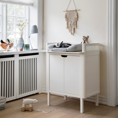 SEBRA BABY CHANGING UNIT in White