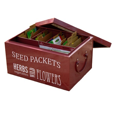 SEED PACKET ORGANISER In Burgundy by Burgon and Ball