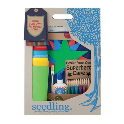 SEEDLING DESIGN YOUR OWN SUPERHERO CAPE Activity Set