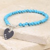 Personalised Semi Precious Bead Charm Bracelet