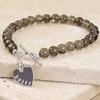 Smoky Quartz Brown Stone Ladies Bracelet by Lisa Angel