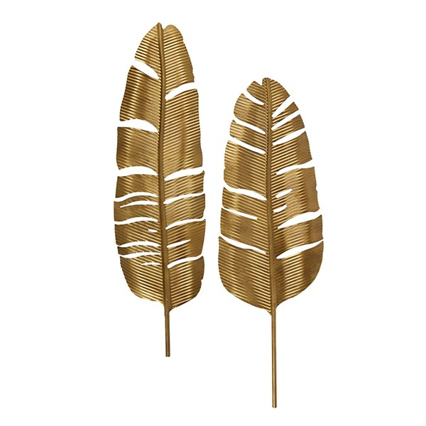 Set of 2 Metal Feathers by BePureHome