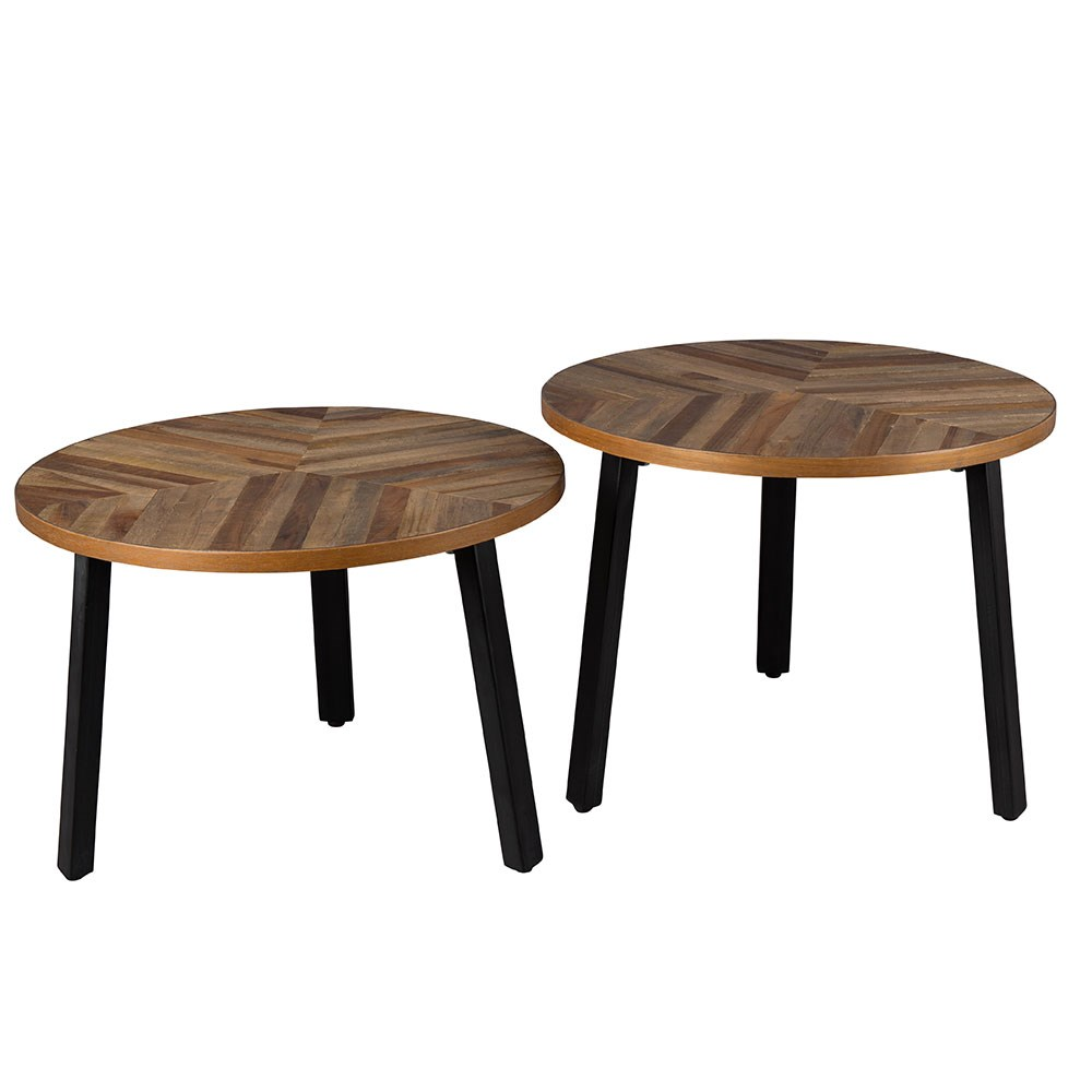 10 Smart Hacks For Having A Stylish Living Room At Low Cost: Dutchbone Set Of 2 Mundu Coffee Tables In Recycled Teak