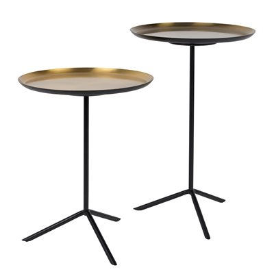 Zuiver Set of 2 Trip Side Tables in Brass