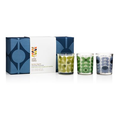 ORLA KIELY Mini Candle Gift Set in Sixties Stem