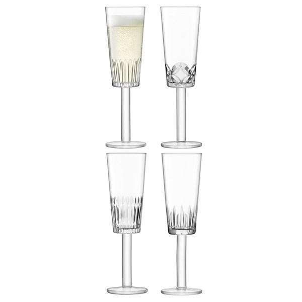 LSA International Tatra Champagne Flute Glasses Set