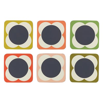 ORLA KIELY FLOWER SPOT COASTERS - Set of 6